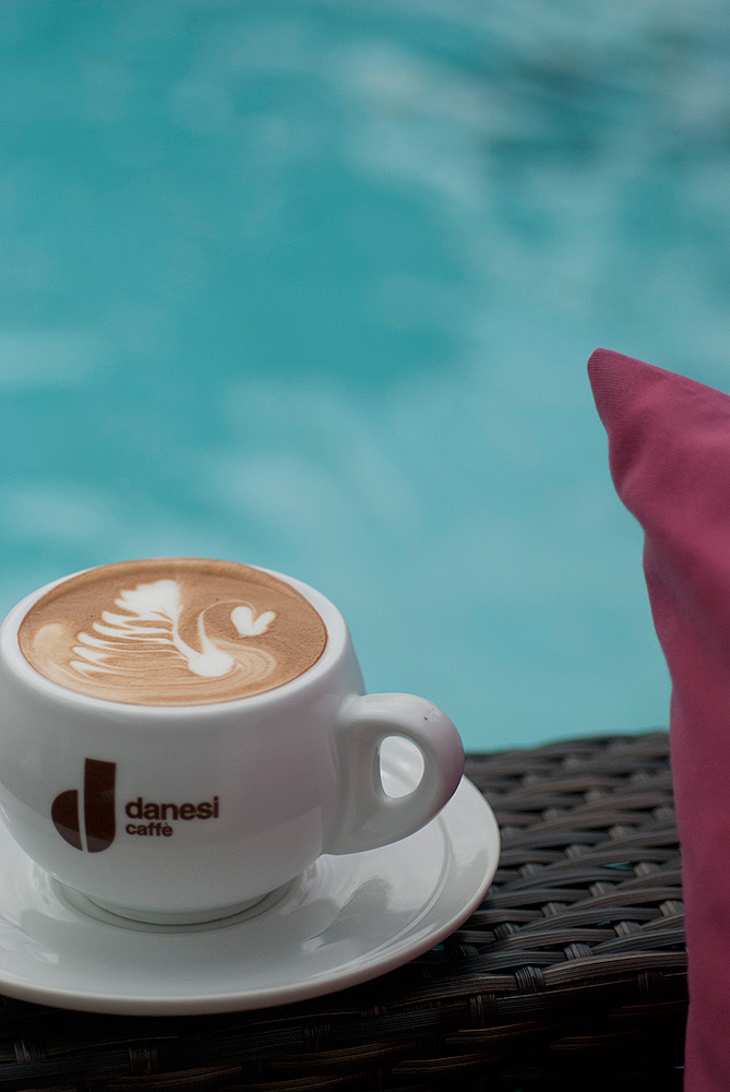 Latte by the Pool