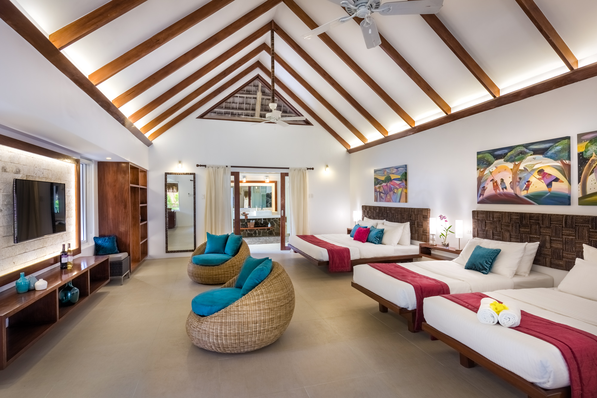 White Dining Room Buffet Accommodation Luxury Amp Tropical Atmosphere Resorts