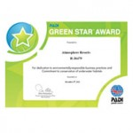PADI Green Star Award Certificate