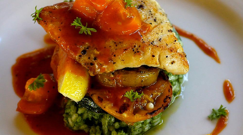 Tuna with Spinach Risotto