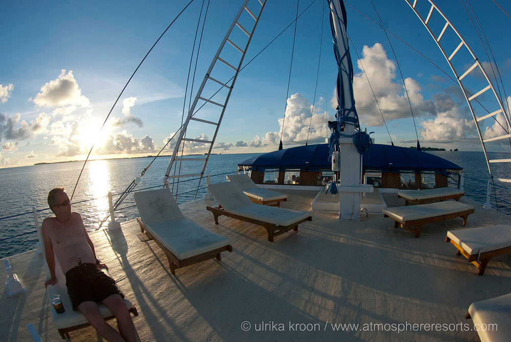 Sunset on deck Palau 2013
