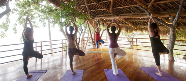 Yoga at Atmosphere in the tree house