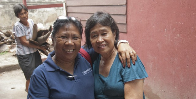 Ruth from Atmosphere Resort and Mila from the Soup Kitchen are happy to see the new building coming up so fast