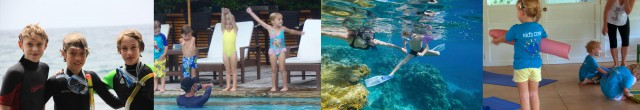 Kids diving snorkeling yoga at Atmosphere Resort