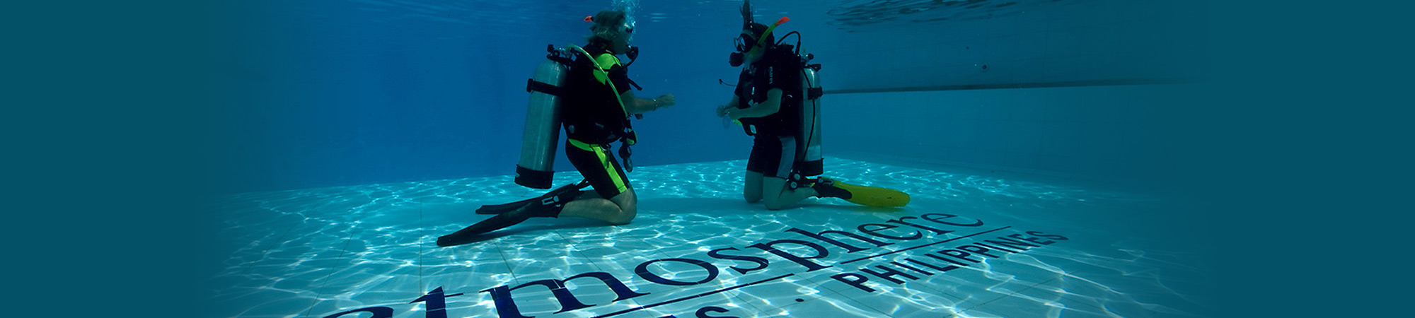 Our custom built large swimming pool at Atmosphere in the Philippines is ideal for your Padi Course with us