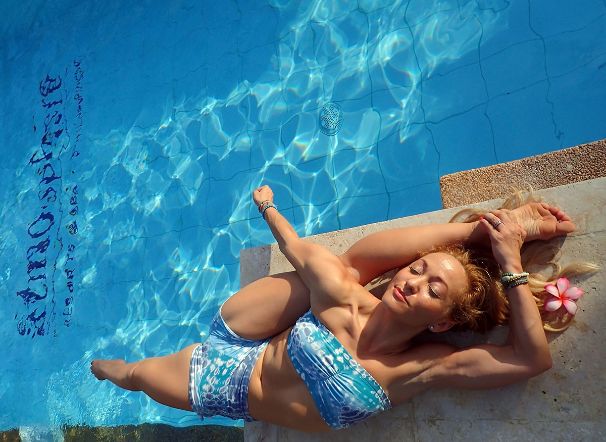 Kino MacGregor from Kinoyoga during her holiday at Atmosphere Resort Philippines