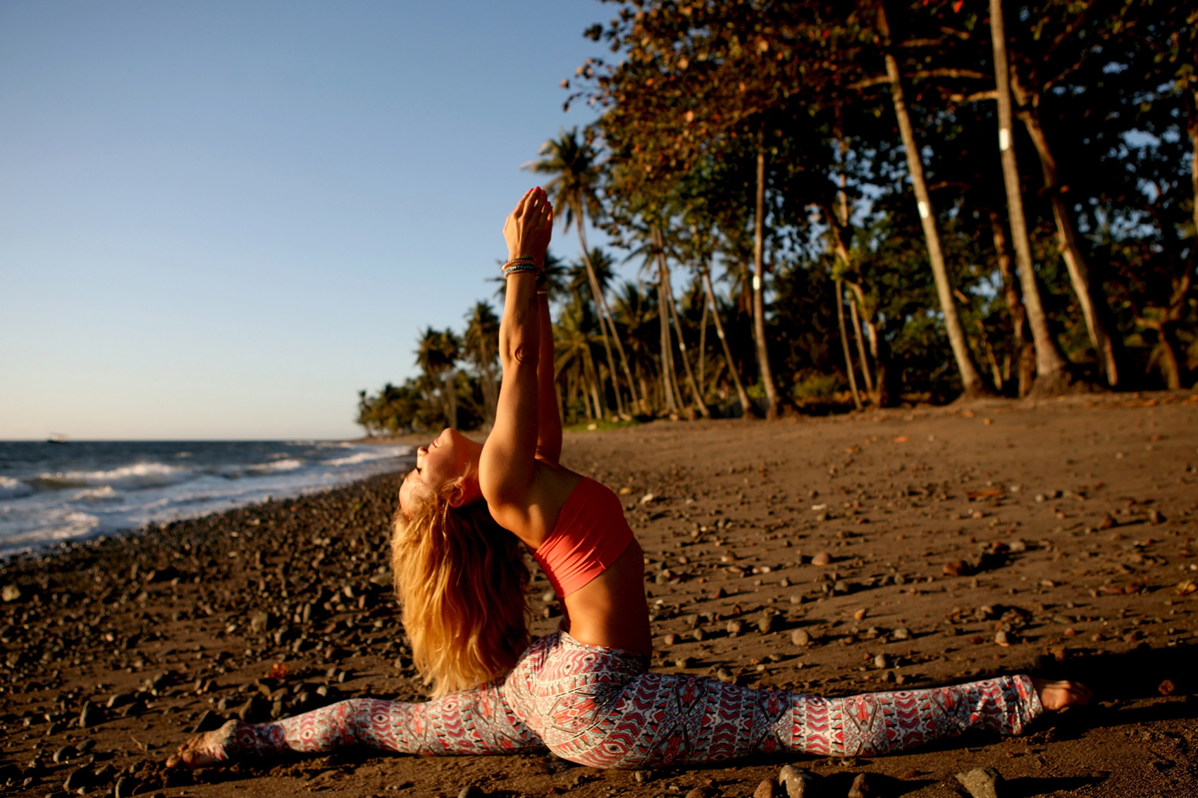 Yoga on the beach with Kino MacGregor
