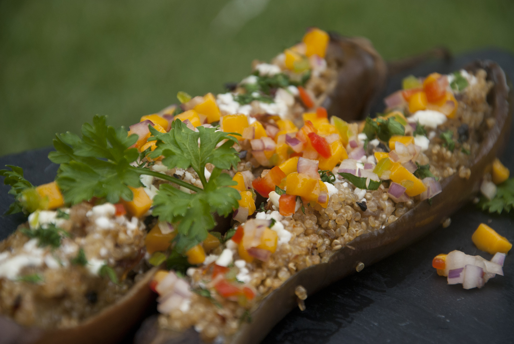 Eggplant and Quinoa gratin