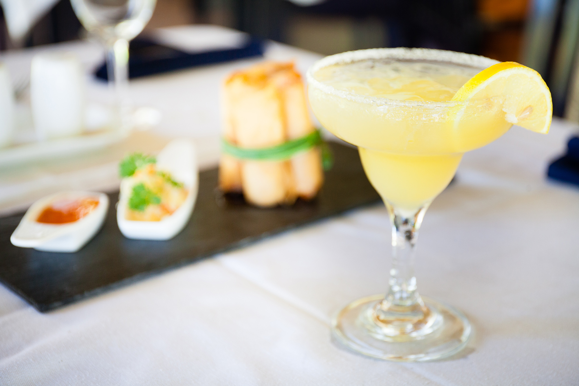 Spring rolls with a Margarita