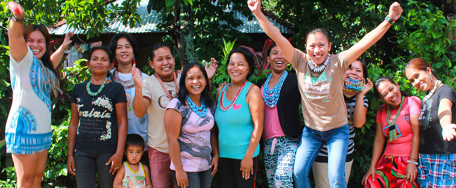 The ladies of Lumago in Dumaguete Philippines showcase their own upcycled paper jewlery