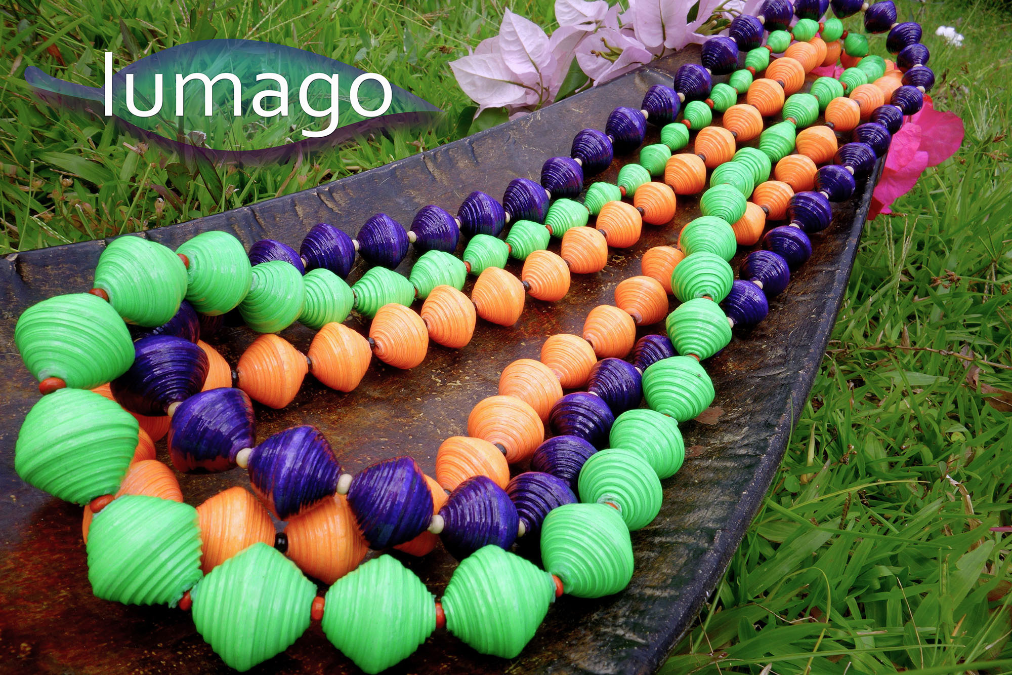 Recycled / upcycled paper bead jewlery from Lumago Designs in Dumaguete Philippines