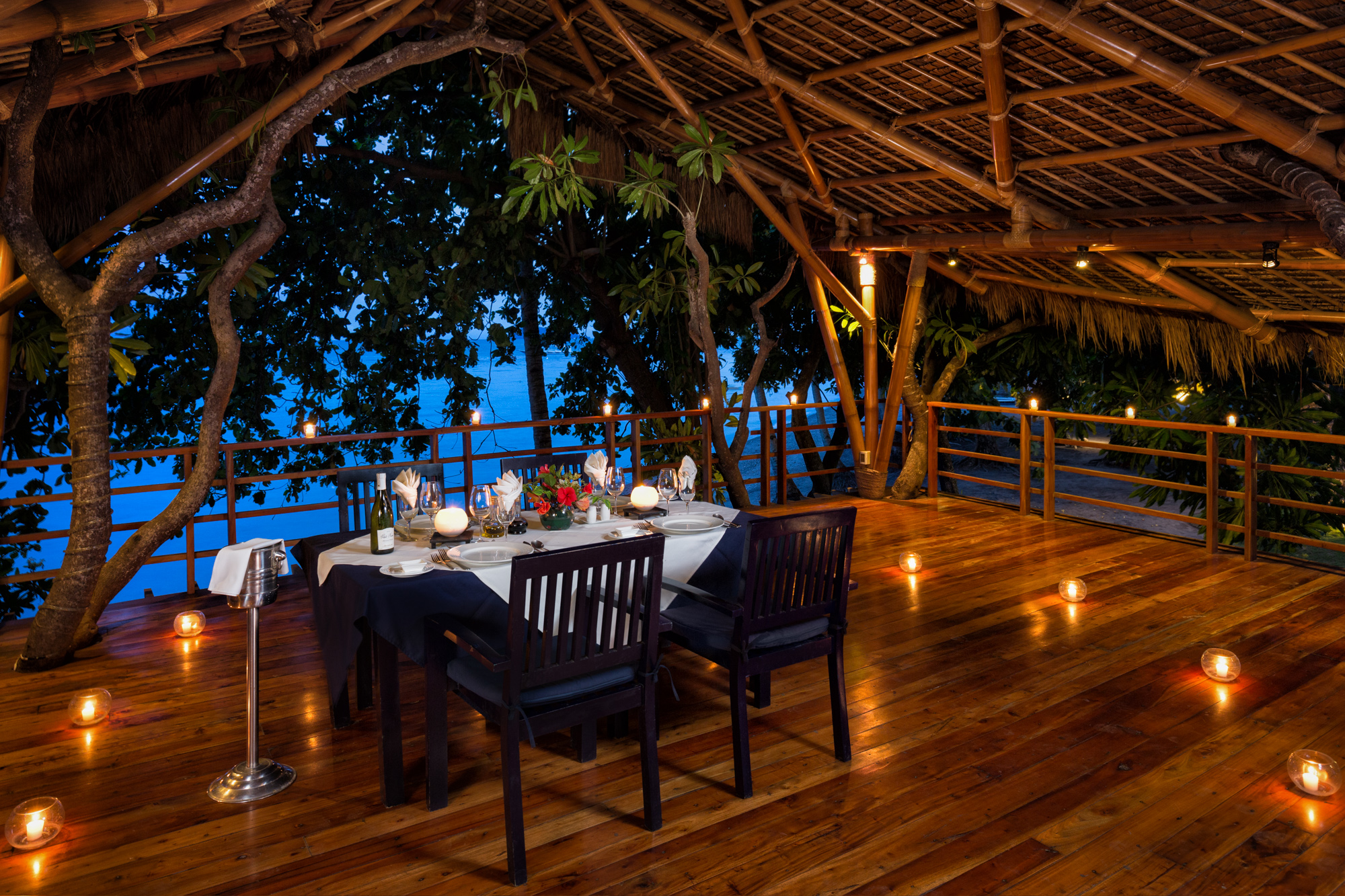 Private dining in the tree house