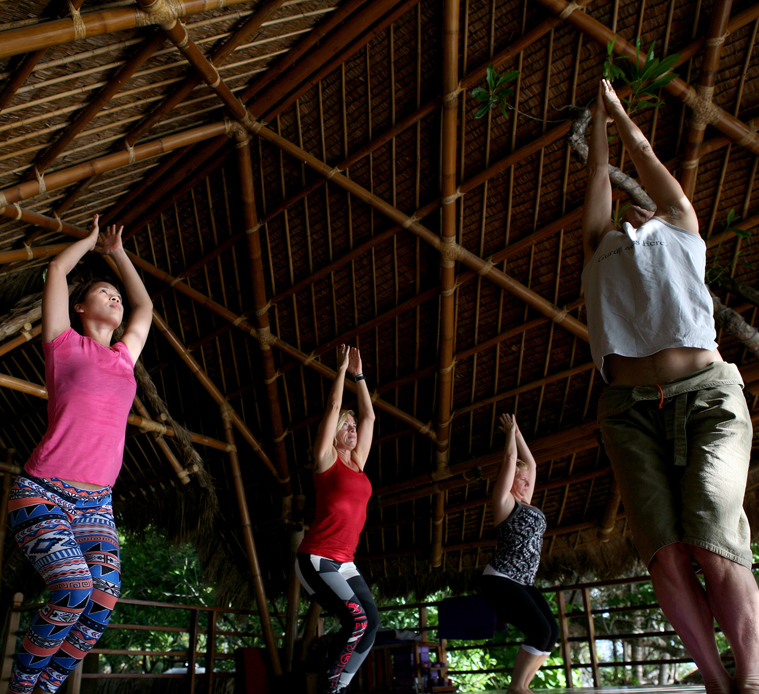 Yoga in the tree house with Tom Feldmann