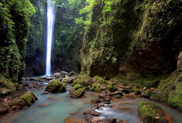 Casaroro waterfalls in Valencia Dumaguete Philippines. Photo by David Hettich, Atmosphere Resort