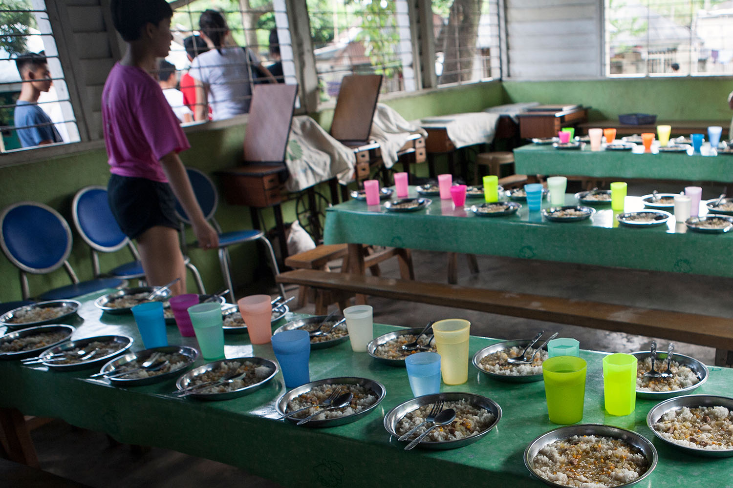 Lunch is served at the Atmosphere Soup Kitchen (ASK) in Dumaguete