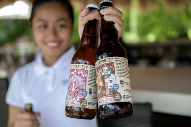 Beers from microbrewery the Cebruery in cebu, served at Atmosphere Resort Philippines