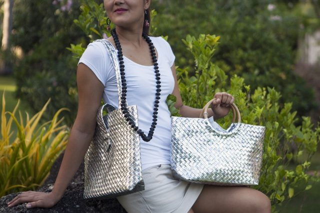 Upcycled accessories Lumago Designs and Eco Vie at Atmosphere Resorts, Philippines.