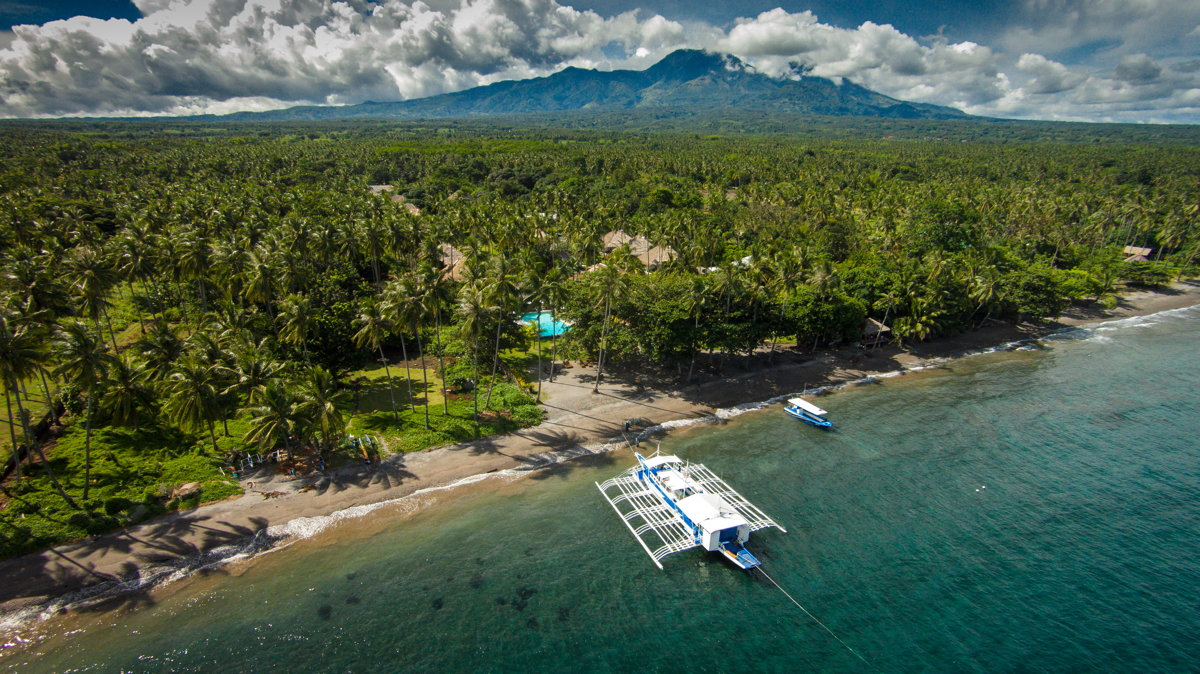 Atmosphere Resorts Mount Talinis background, Dauin, Negros Oriental, Philippines