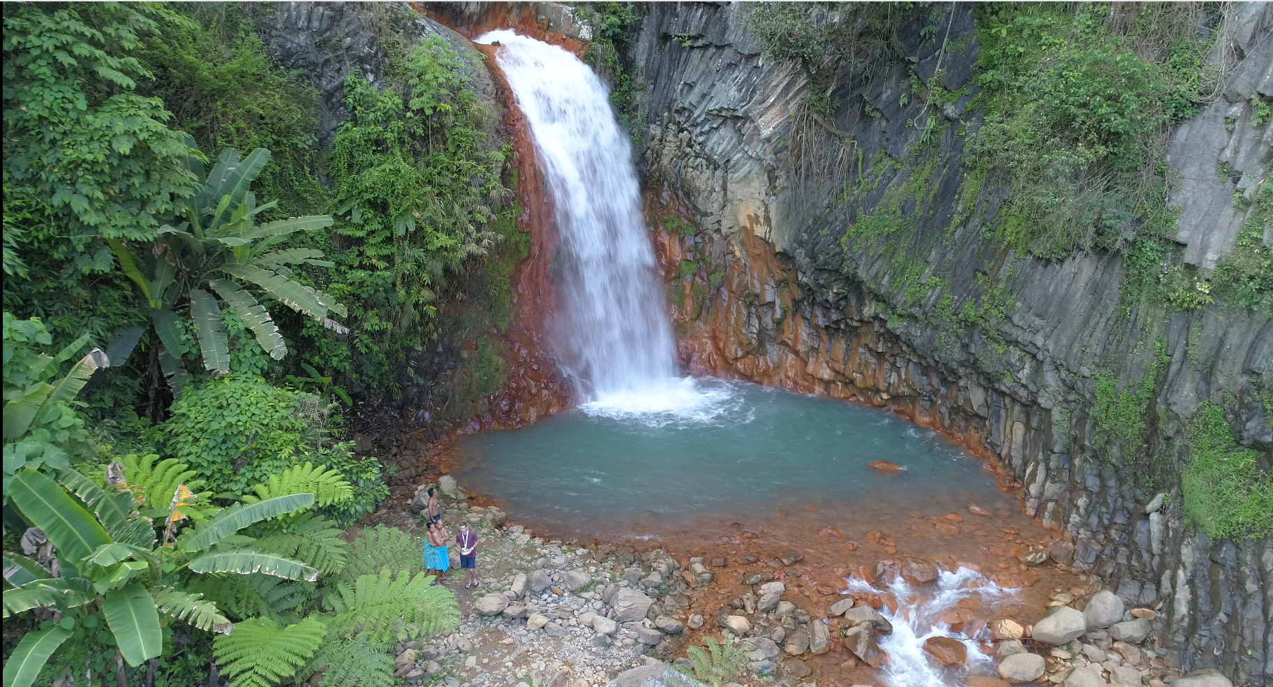 Waterfall and hot springs tour Valencia, Negros Oriental, Philippines