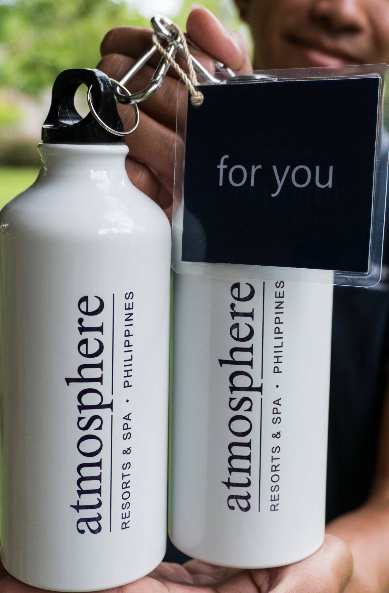 Free water bottles at Atmosphere Resorts Philippines