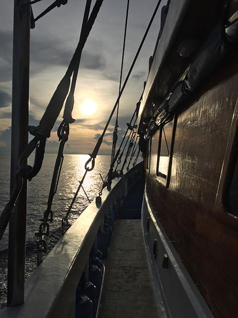 Sunset on the Philippine Siren in Tubbataha 2018