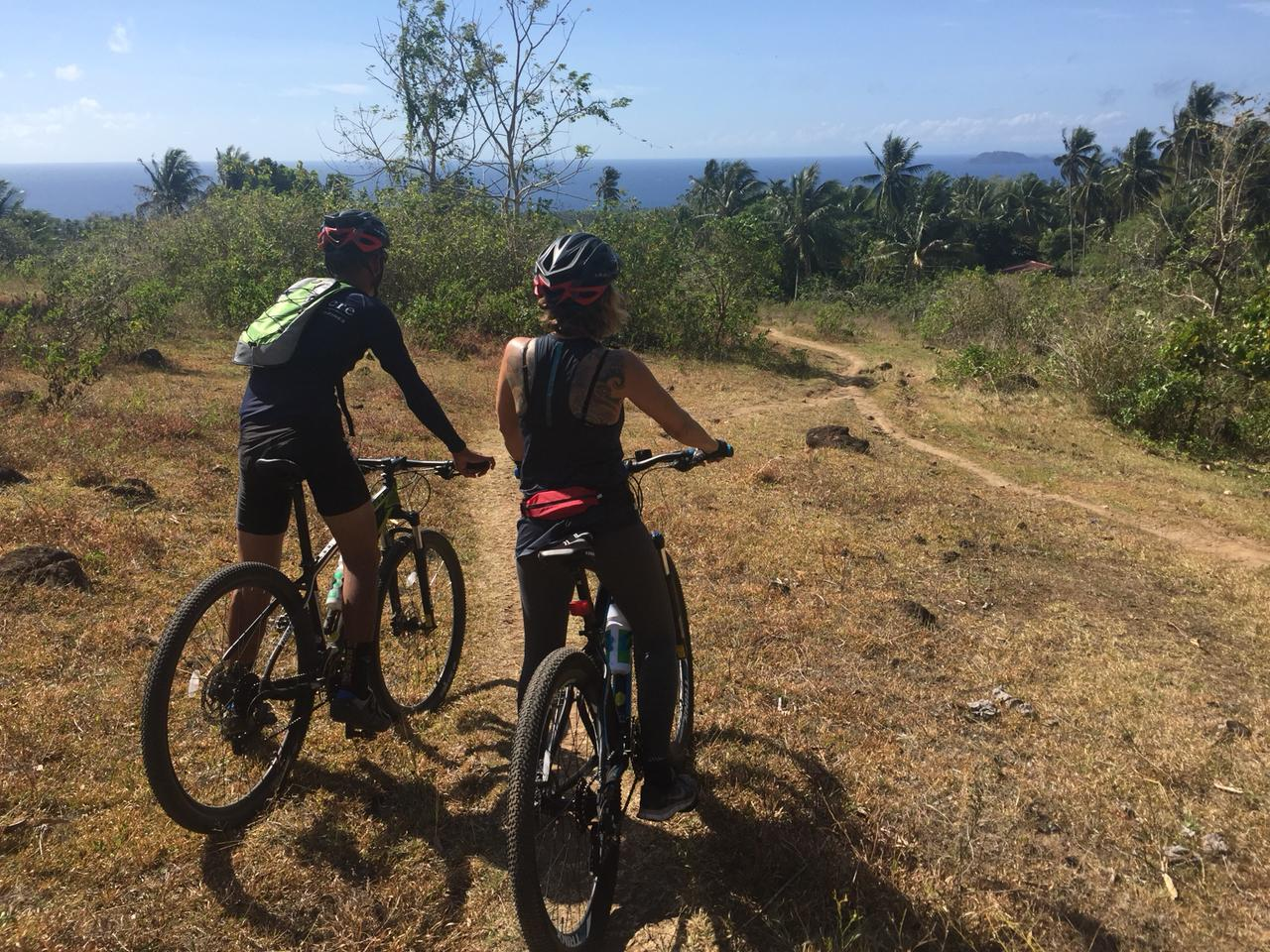 Fitness with a view. Mountain biking at Atmosphere Resort, Dumaguete, Philippines