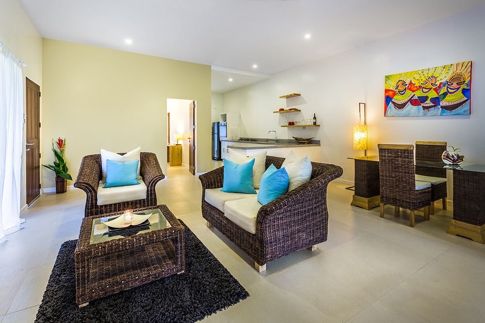 Garden Apartment lounge at Atmosphere Resorts & Spa Philippines