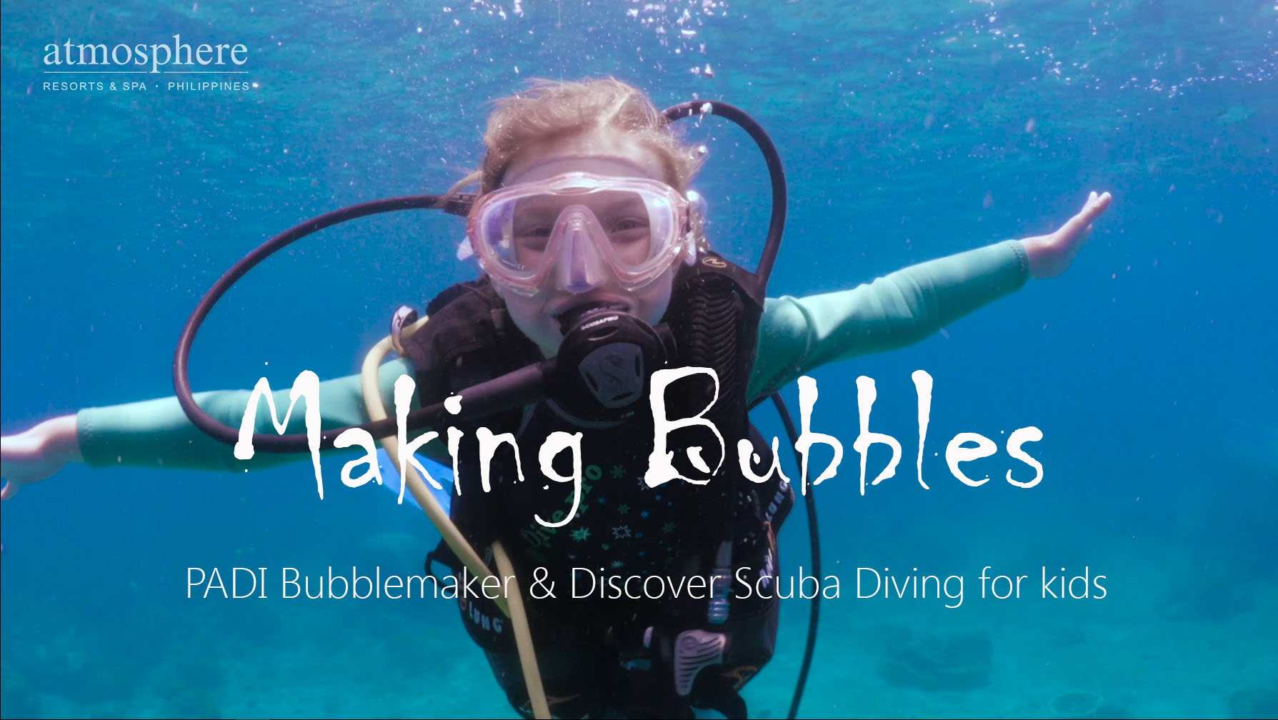 PADI Bubblemaker and Discover Scuba experience at Atmosphere