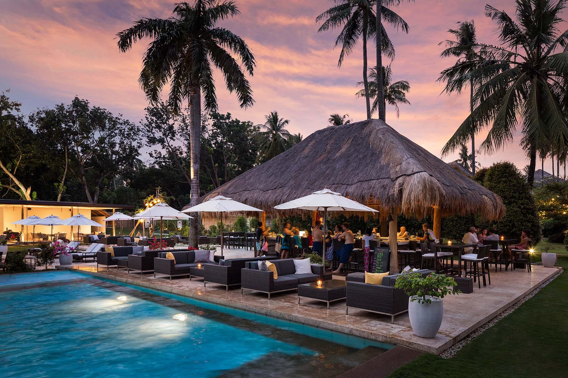 Poolside bar at Atmosphere Resorts & Spa