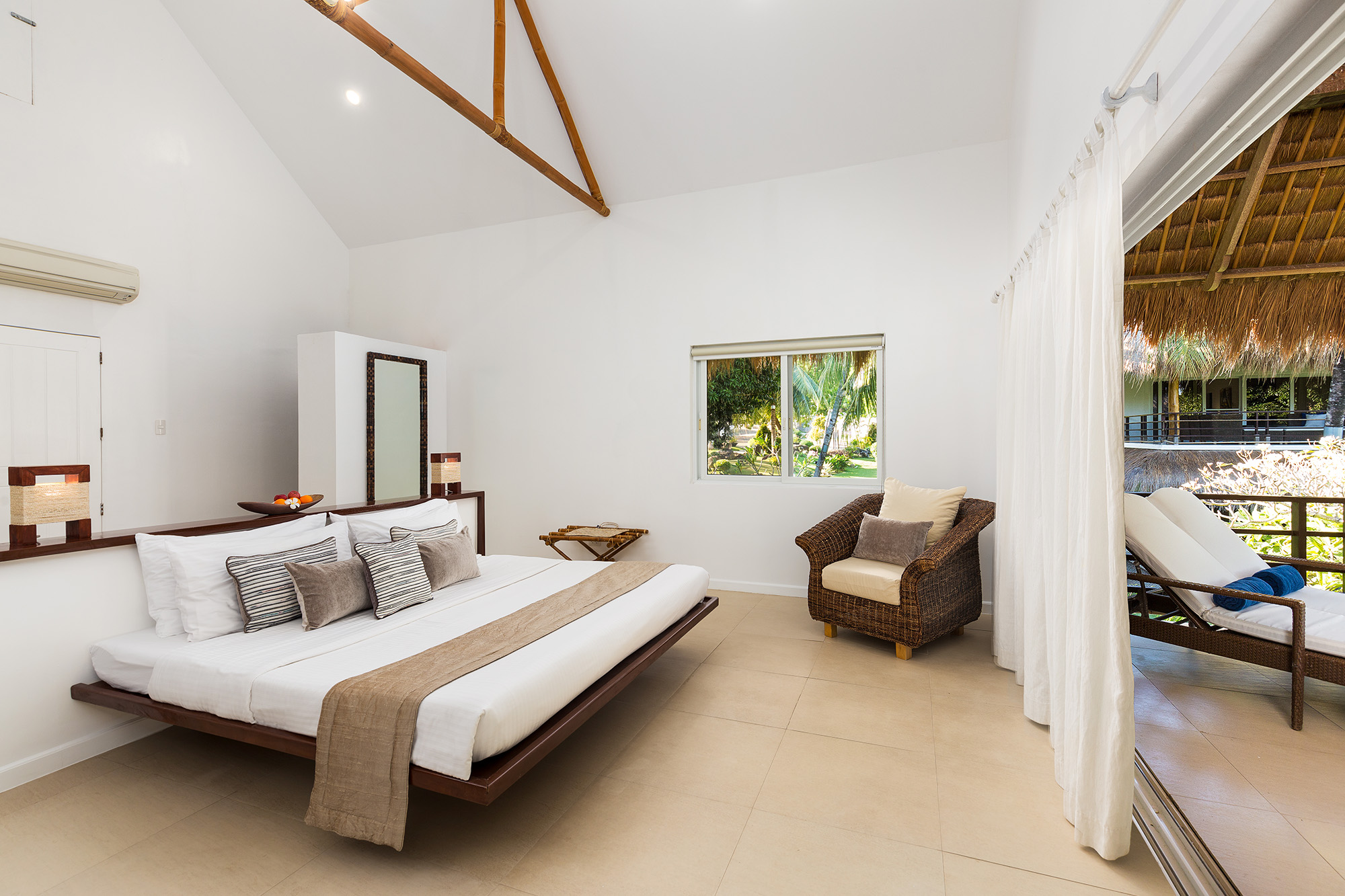 Master bedroom in the Penthouse at Atmosphere Resorts & Spa Philippines