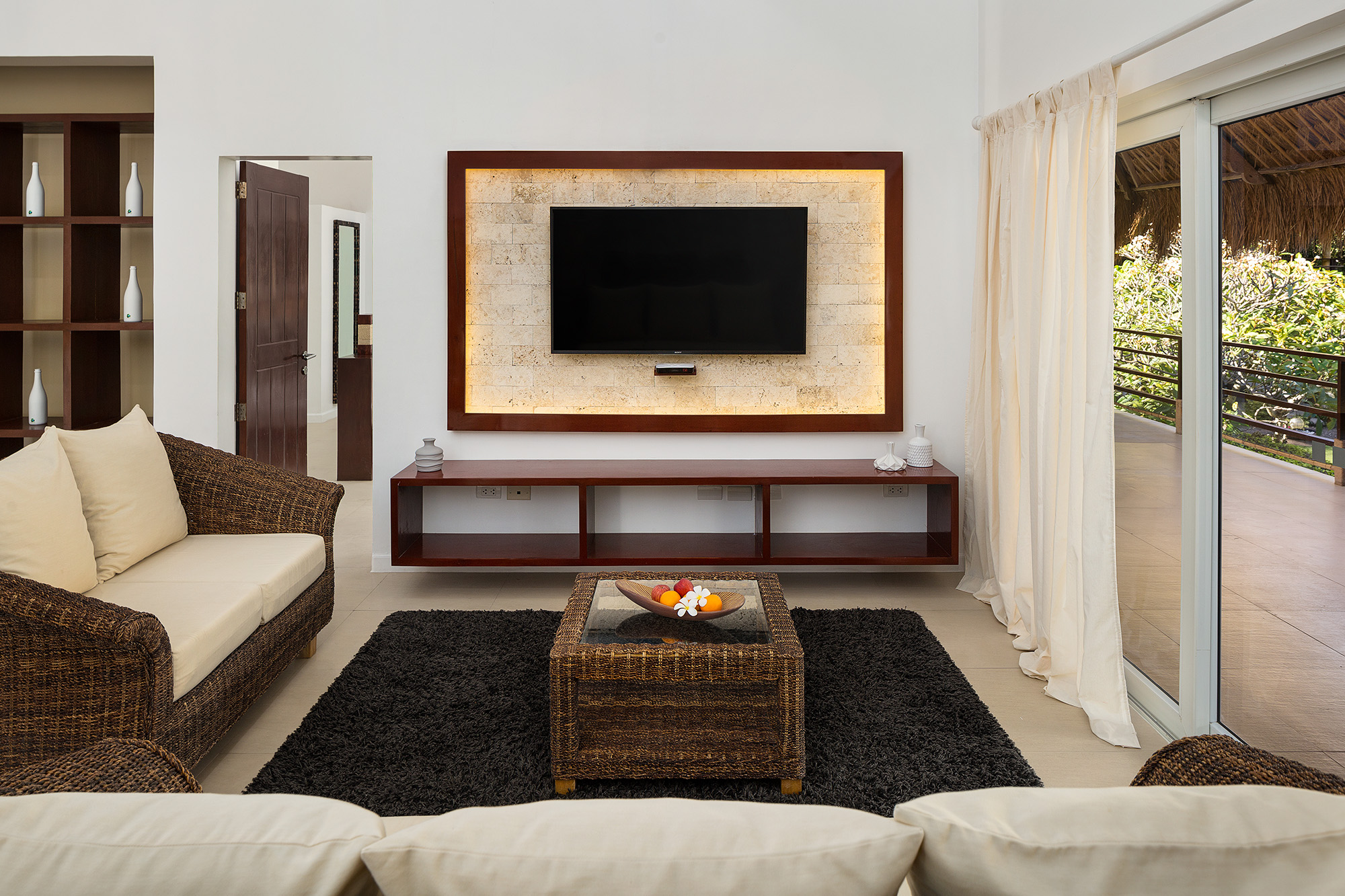 Living room or lounging area of the Penthouse at Atmosphere Resorts & Spa Philippines
