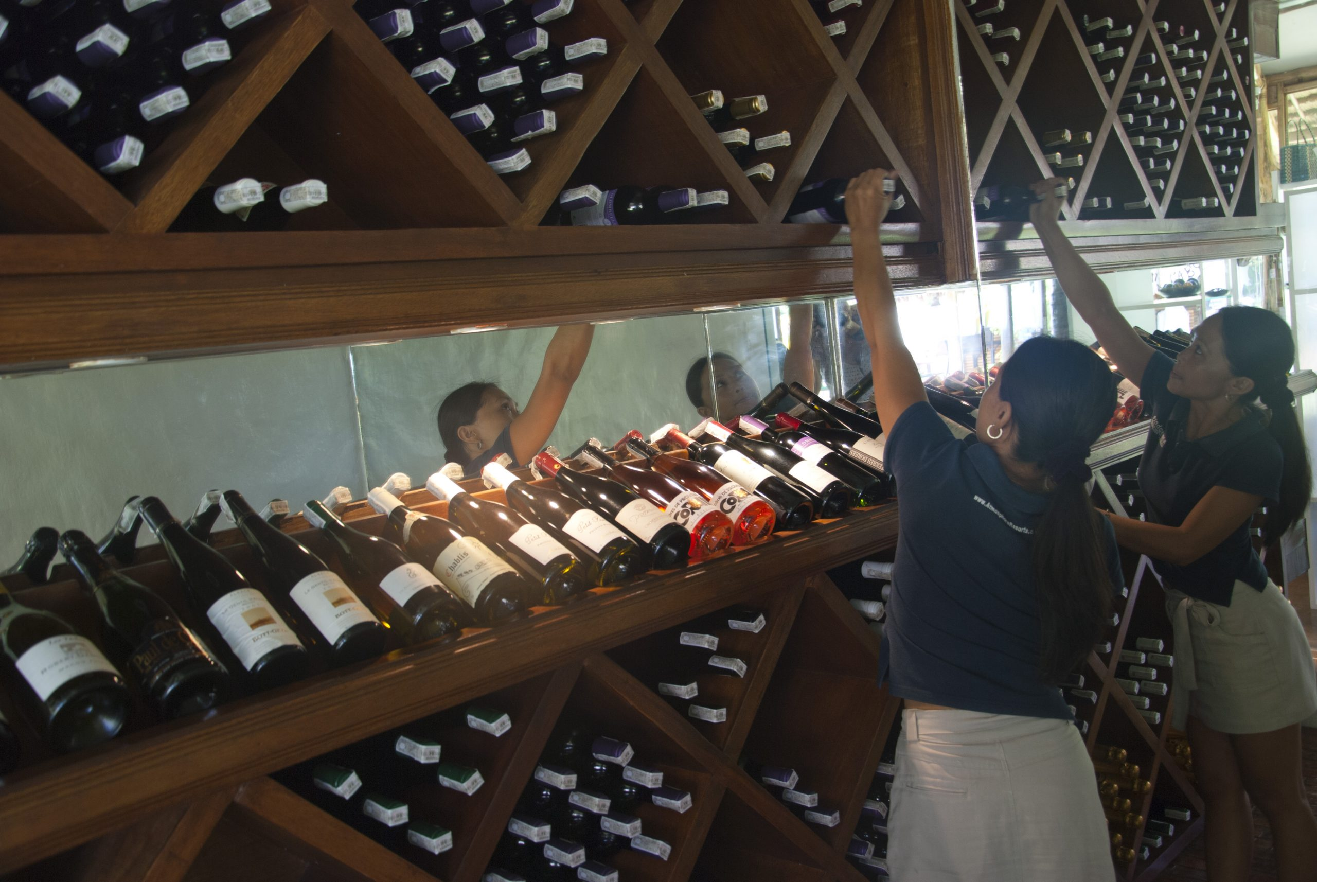 The wine cellar at Atmosphere Resorts & Spa