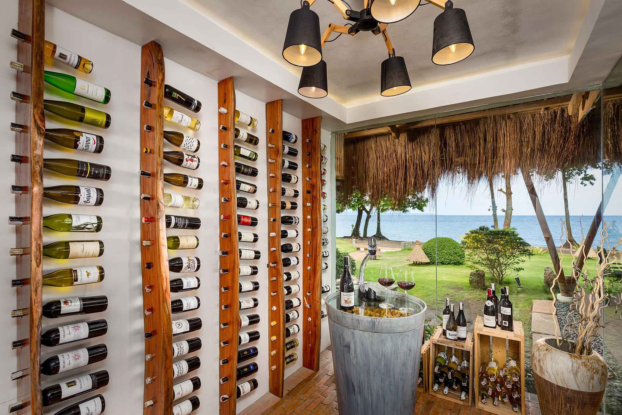 The wine tasting room at Atmosphere Resorts & Spa
