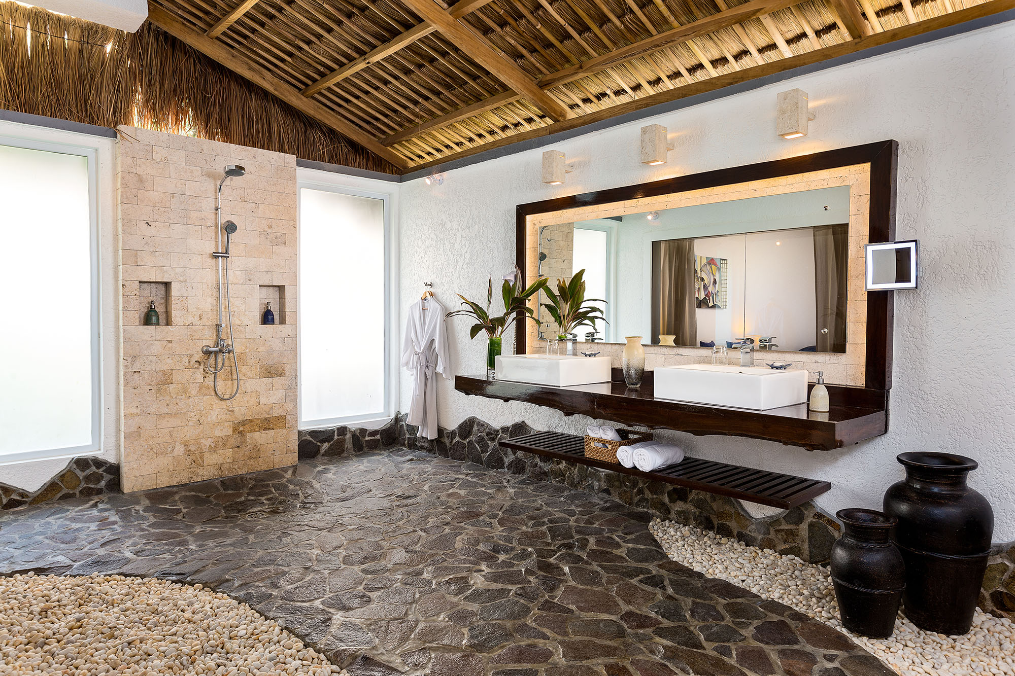 Garden Apartment bathroom at Atmosphere Resorts & Spa Residences Philippines