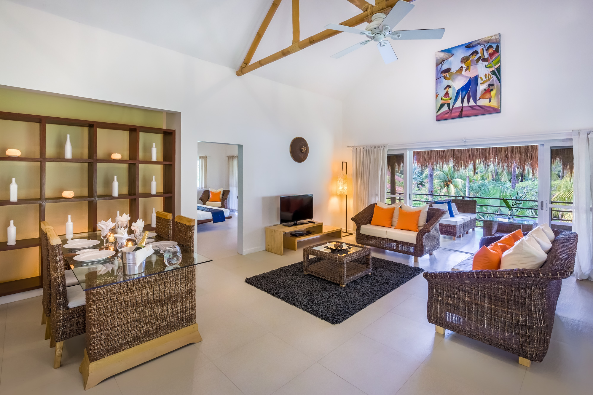 Penthouse living area at Atmosphere resorts & Spa Residences Philippines