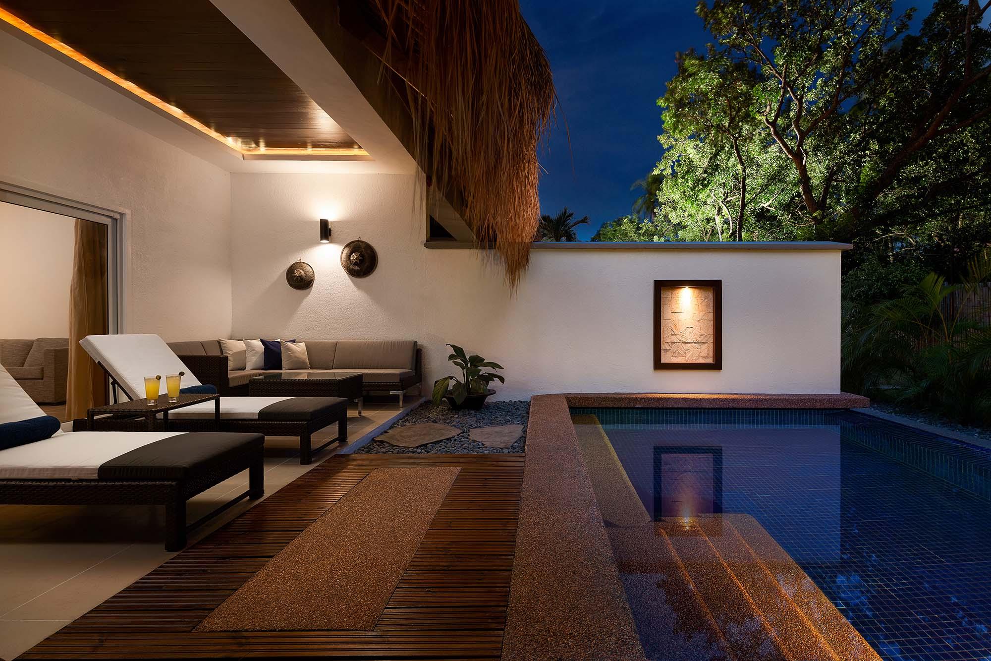 Premium Pool Suite terrace at Atmosphere Resorts & Spa Philippines
