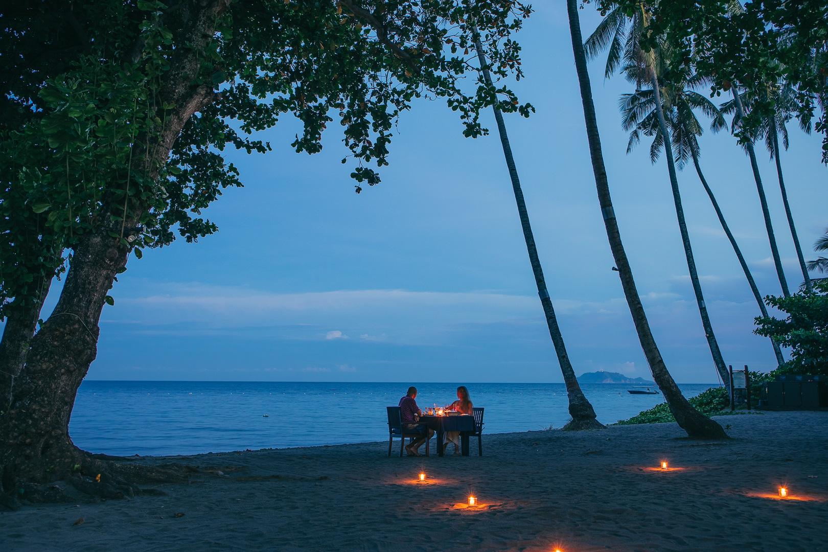 Private dining on the Atmosphere beach